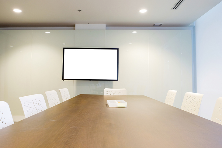 Interior room for business team and education